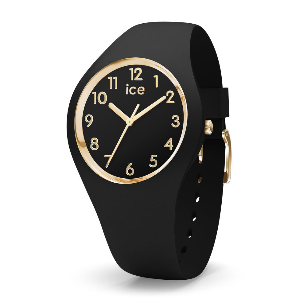 Ice-Watch IW015338 Ice Glam Black Goldplated Numbers Small 34 mm horloge