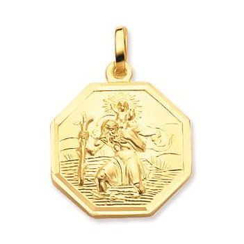 Gouden Christoffel Achtkant Gladde rand 16 mm 247.0020.16