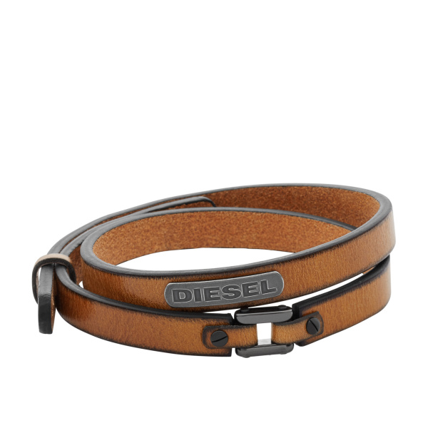 Diesel DX0984040 Armband Coiled staal 18 19,5 cm