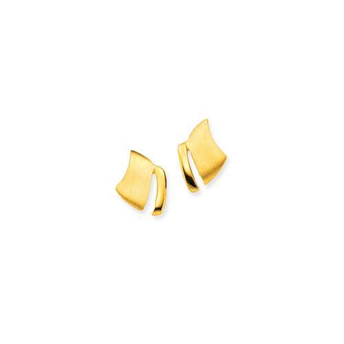 Gouden fantasie oorknoppen gold collection Mat glanzend 206.0085.00