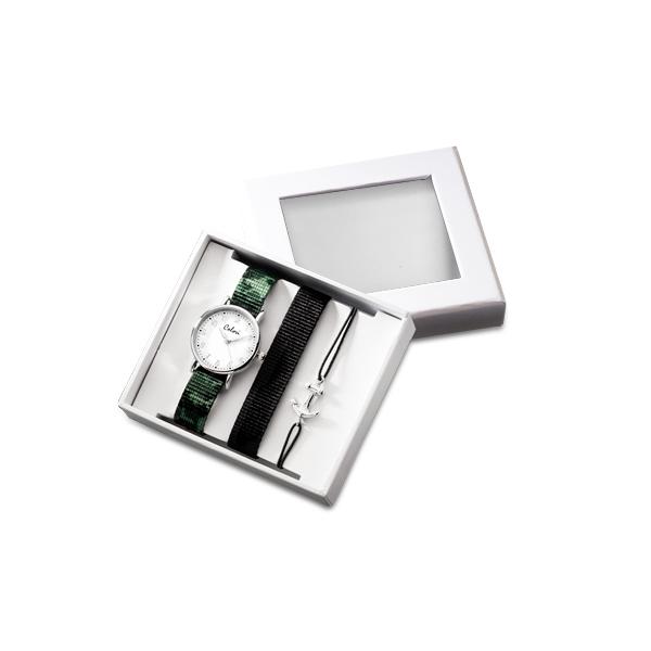 Colori CLK097 Cadeauset Kinderhorloge met Anker Armband en horlogeband 26 mm