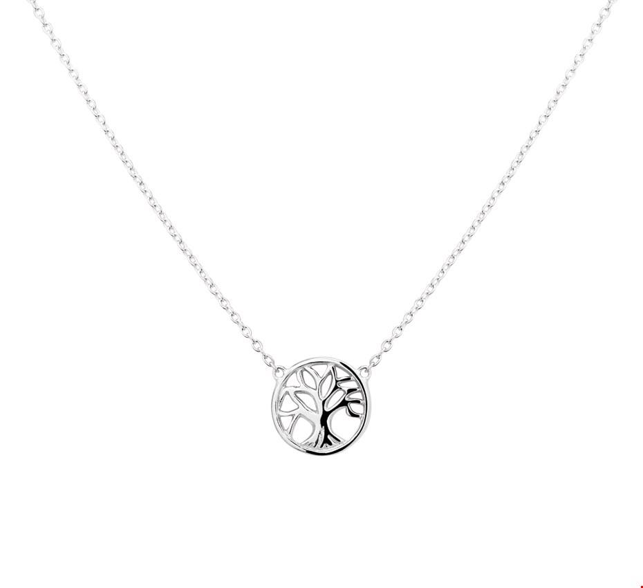 Huiscollectie Ketting Levensboom zilver 41 + 4 cm