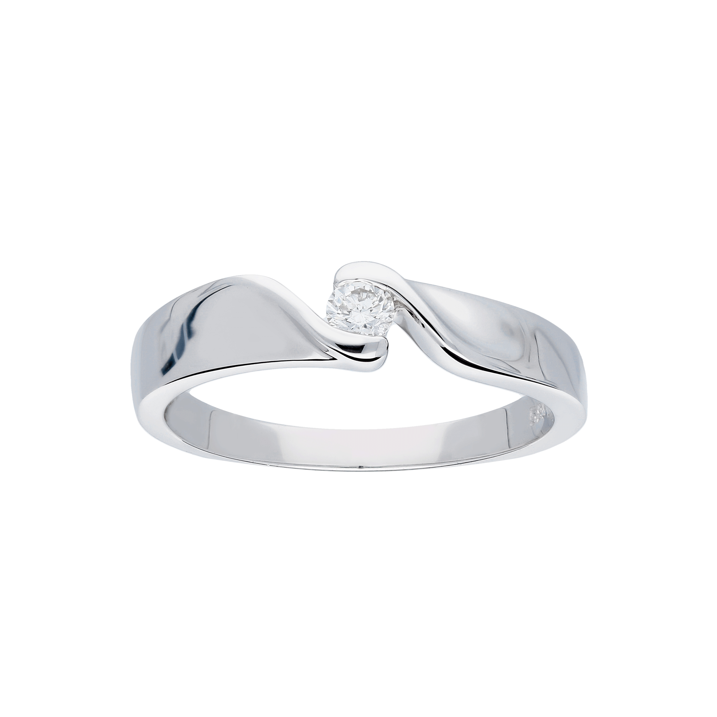 Glow Witgouden Ring Glanzend Diamant 1 0.1ct G si 214.3014.56