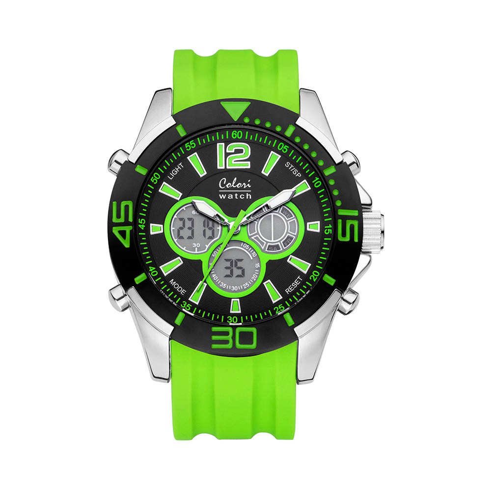 Colori Urban 5 CLD015 Digitaal Horloge siliconen groen 47 mm