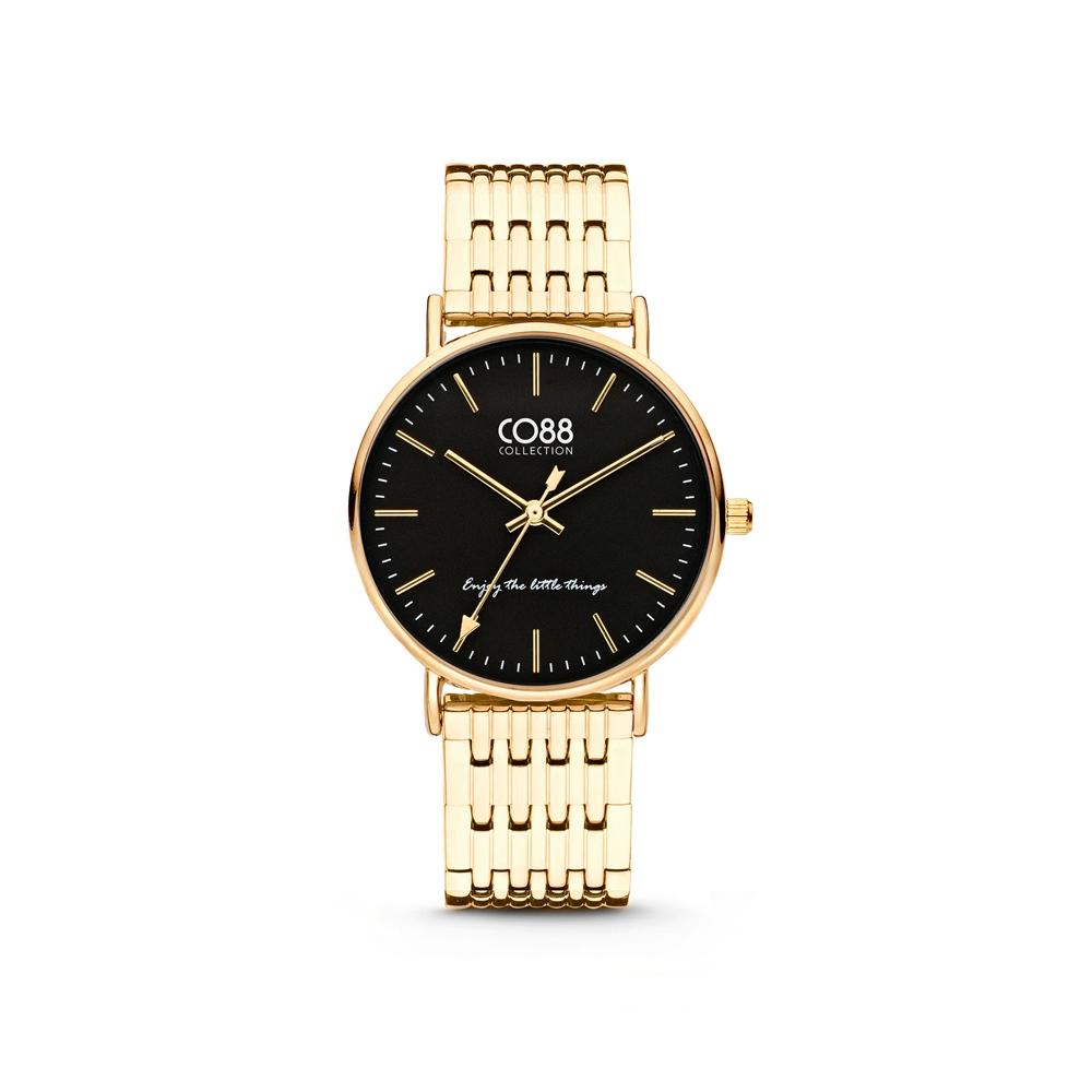 CO88 Collection 8CW 10073 Horloge - Stalen band - goudkleurig - Ø 36 mm