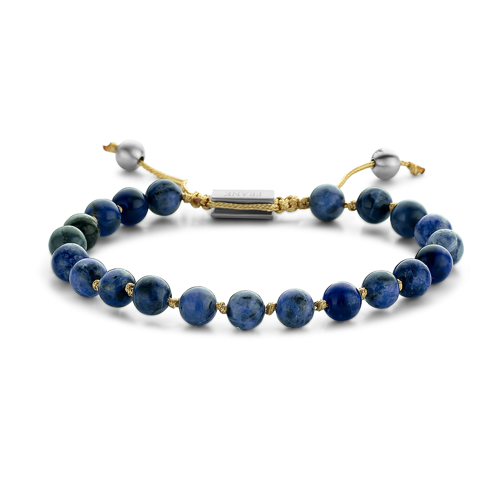Frank 1967 Beads 7FB 0371 Natuurstenen armband One-size 6 mm Blauw