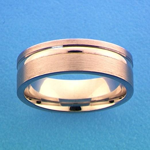 TFT Ring A111 - 6,5 Mm - Zonder Cz Zilver Gerhodineerd