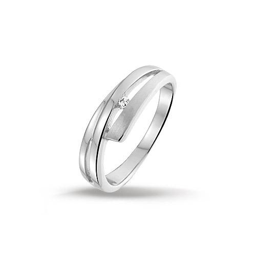 Huiscollectie 1311397 Zilveren zirkonia ring Maat 58 is 18.5mm