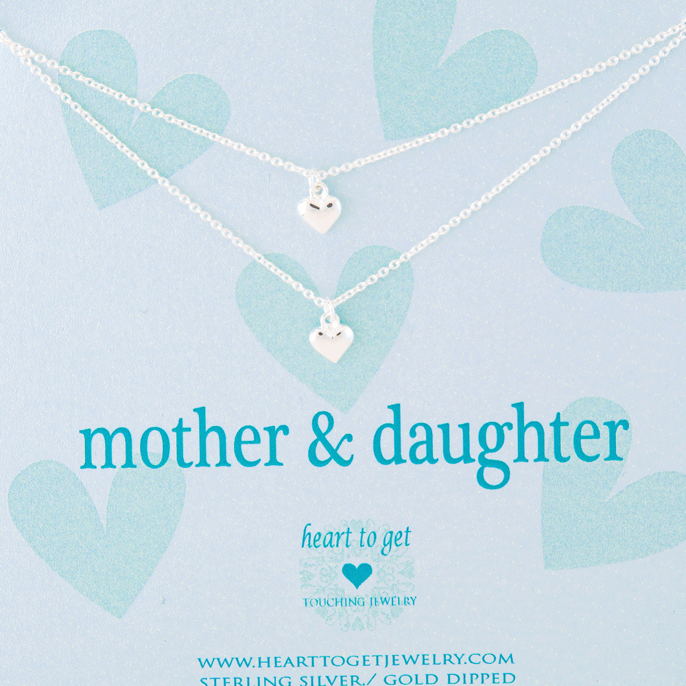 Heart to get 2N16HEA11S-3 Mother & daughter ketting zilver