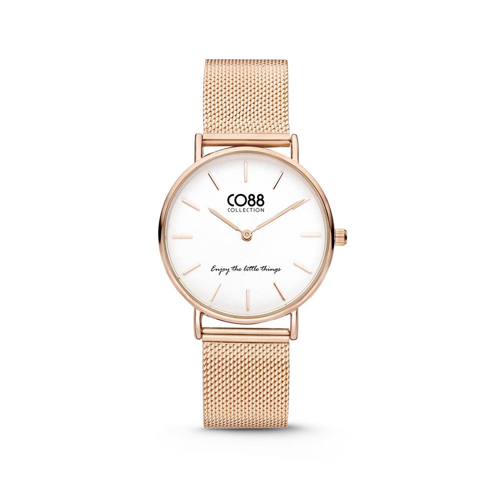 CO88 Collection 8CW 10078 Horloge - Mesh Band - Ø 32 mm - Rosekleurig