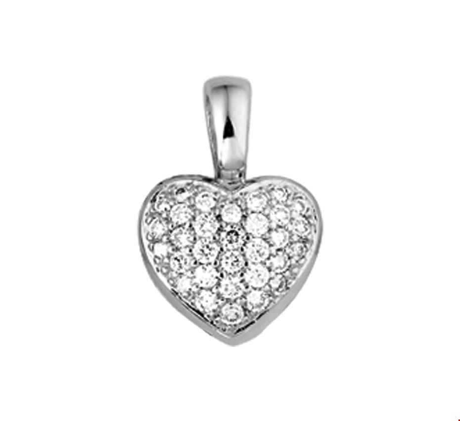 TFT Hanger Witgoud Hart Diamant 0.33 Ct.