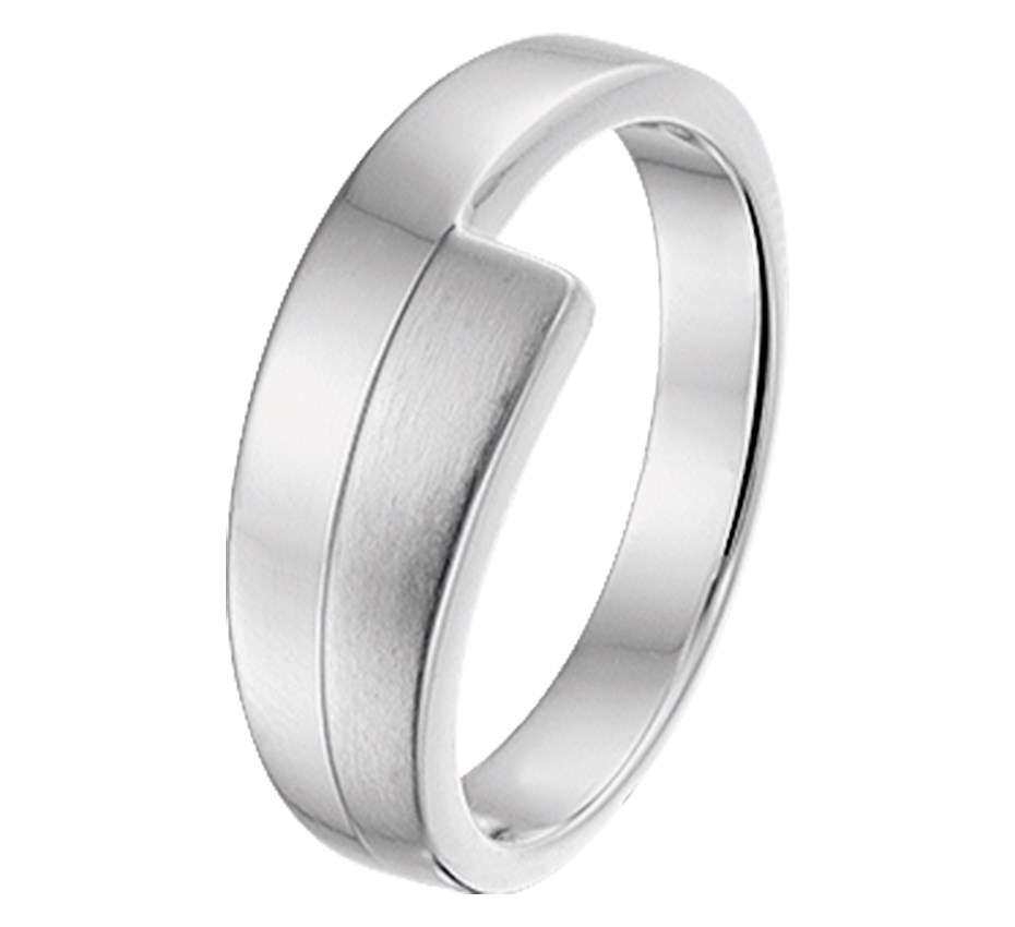 TFT Ring Poli/mat Zilver Gerhodineerd