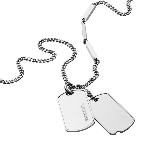 Diesel DX1173040 Double Dogtags Herencollier