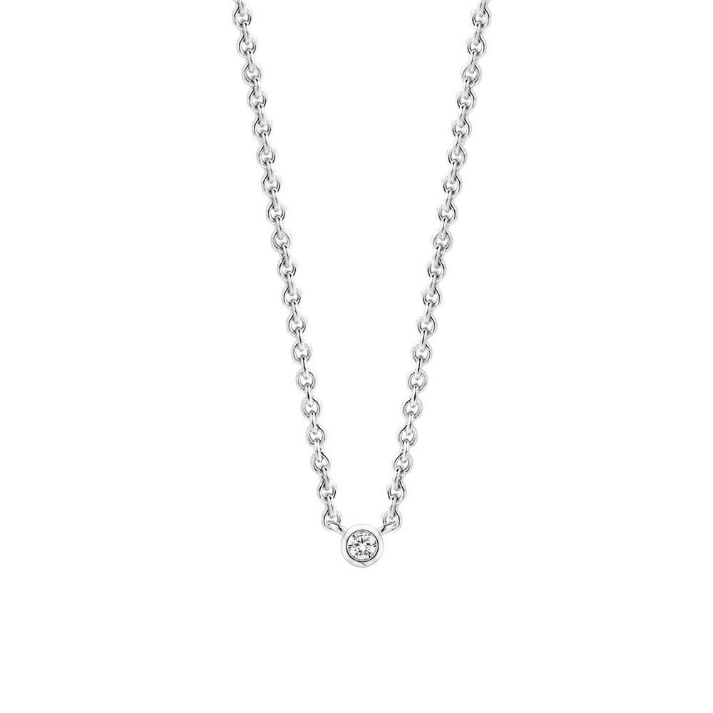 TI SENTO Milano 3906ZI zilveren collier met zirkonia hanger 42 cm