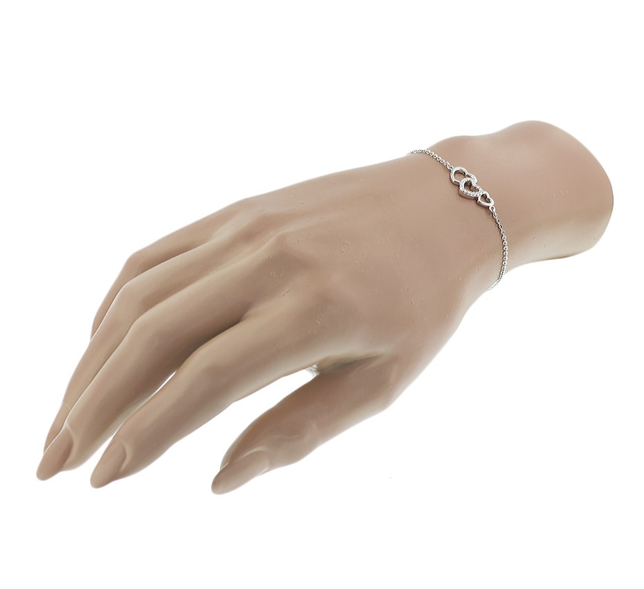TFT Armband Zilver Hartjes En Zirkonia 1,4 mm 16 3 cm