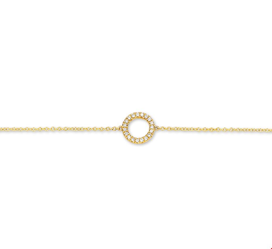 TFT Armband Goud Diamant 0.06ct H P1 16,5-17,5-18,5 cm