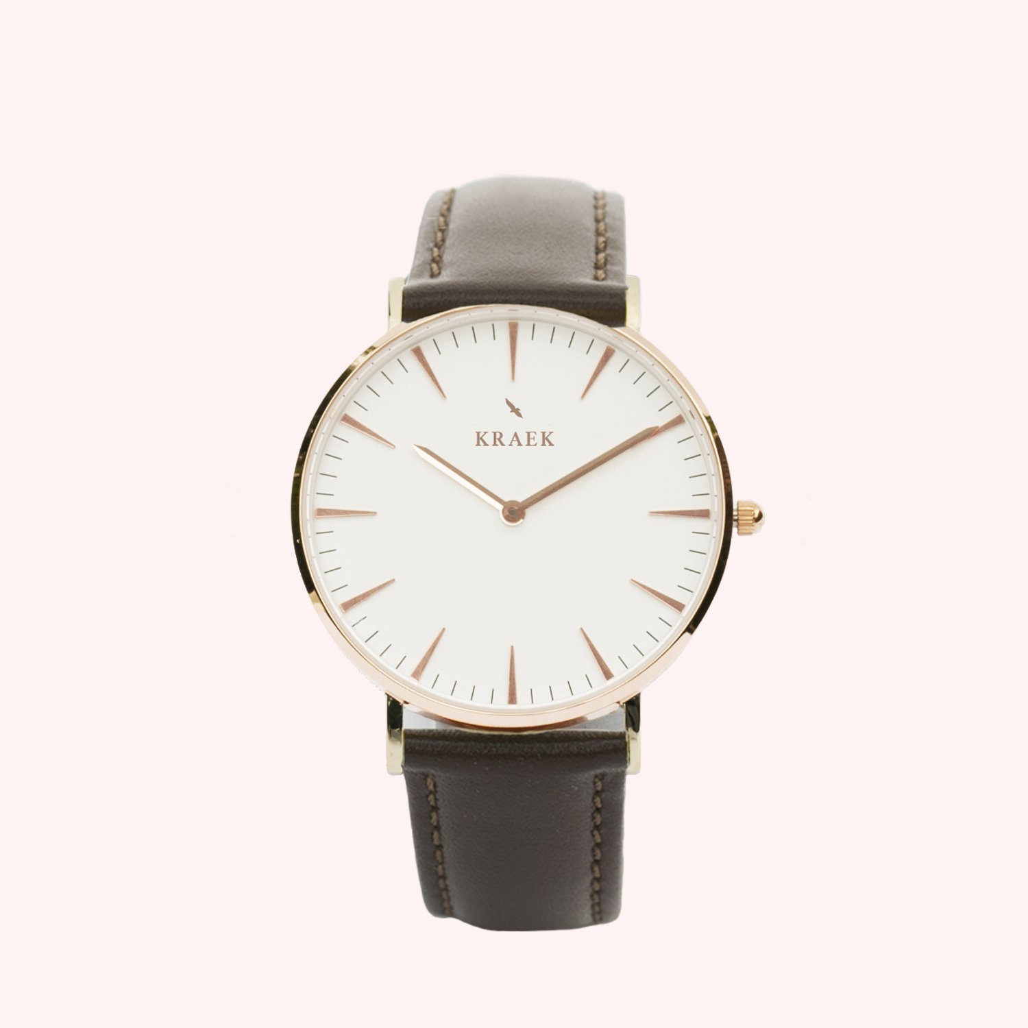KRAEK Lark | Rose Gold | Brown Dameshorloge