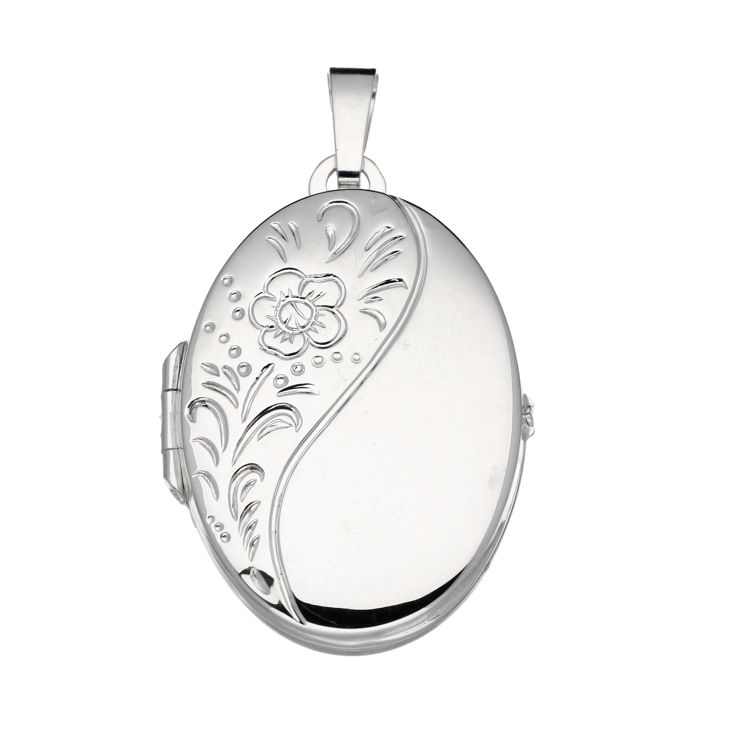 Best Basics 145.0016.00 Zilveren Hanger Medaillon Ovaal bewerkt
