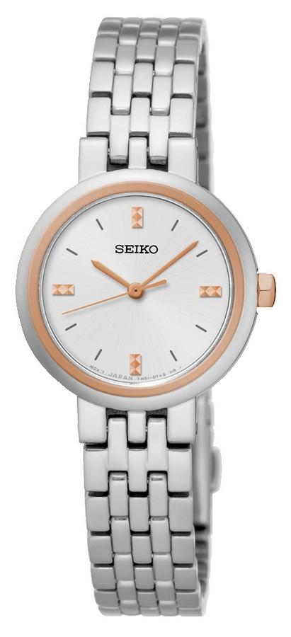 Seiko Dameshorloge Zilver- en roségoudkleurig SRZ458P1