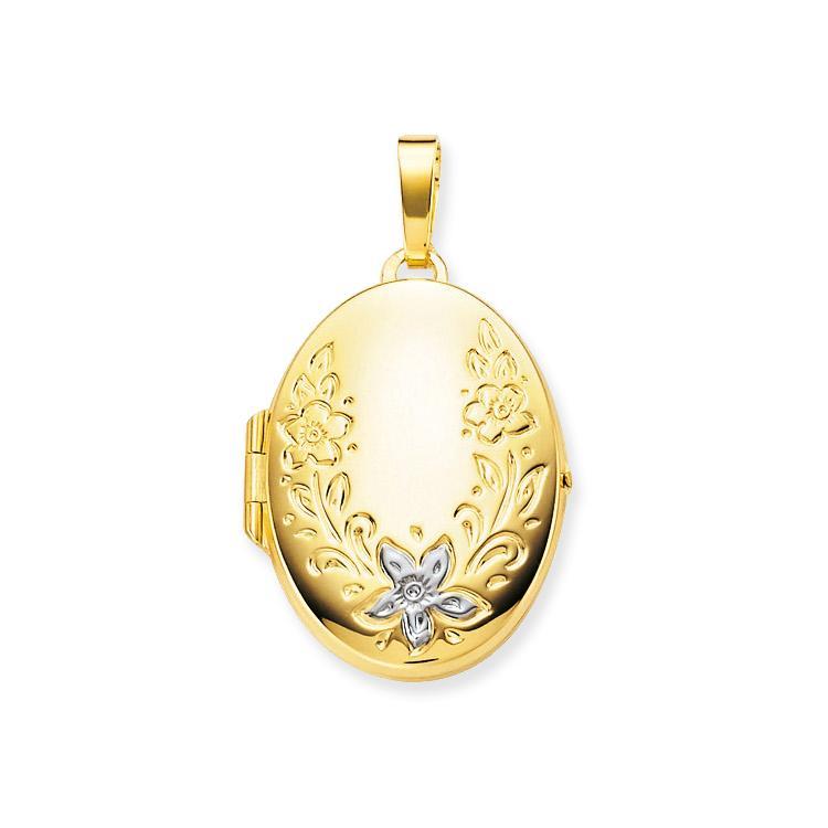 Glow Gouden Medaillon Ovaal bewerkt - 20 x 30 mm 245.0050.00