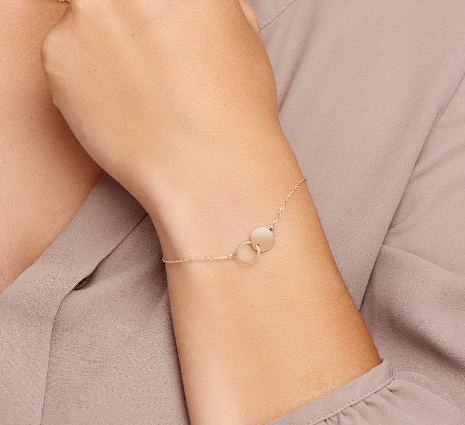 TFT Armband Goud Rondjes 1,0 mm 17 - 19 cm