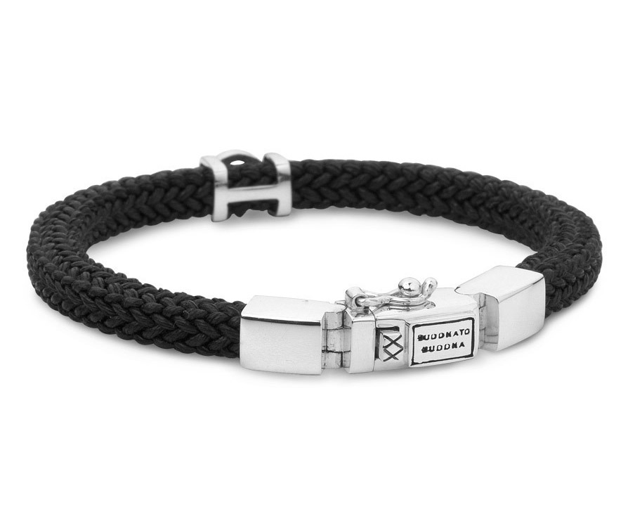Buddha to Buddha 780BL Armband Denise Cord Black Large (F) 21 cm