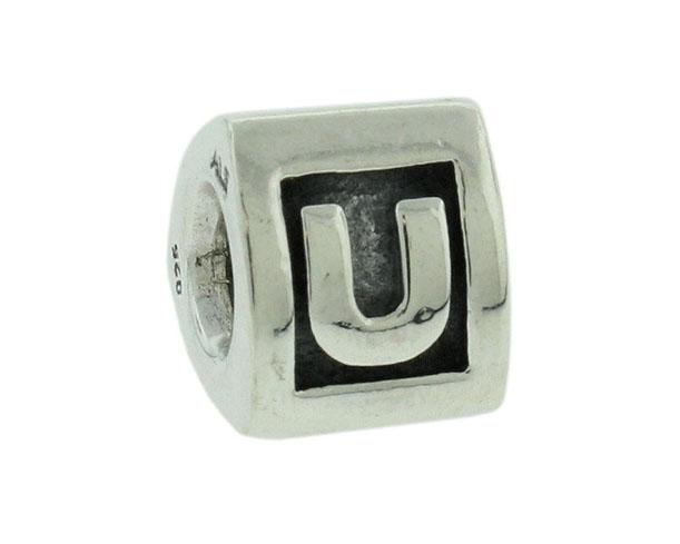 Pandora bedel zilver letter 'U' 790323-U