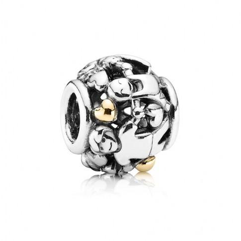 Pandora Bedel zilver-goud 'Familie' 791040