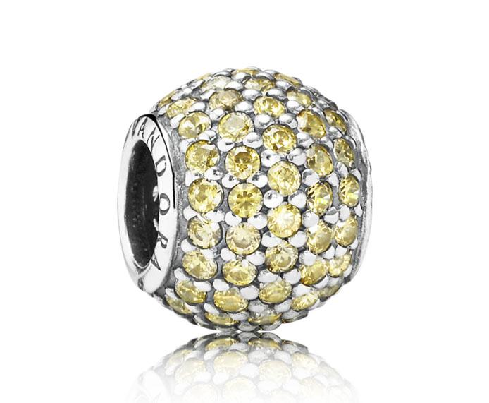 Pandora bedel 'Gouden pav ball' 791051FCZ