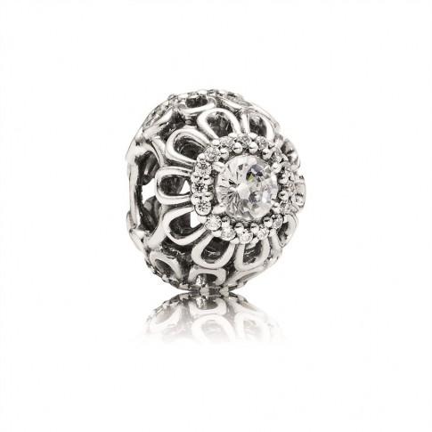Pandora opengewerkte Bedel zilver 'Schitterende bloemen' 791260CZ