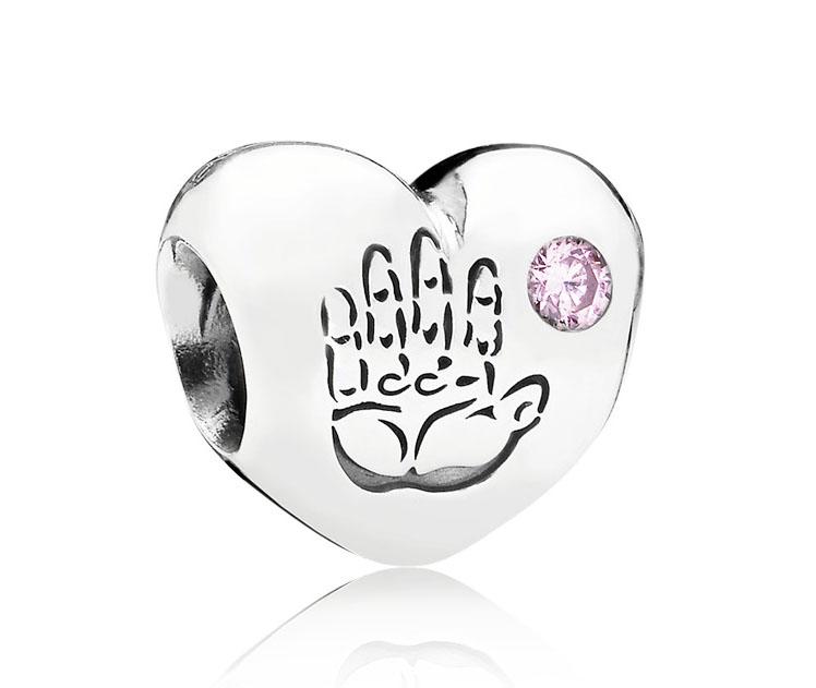 Pandora Bedel zilver 'Hart Baby Girl' 791280PCZ