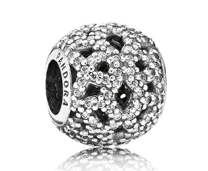 Pandora opengewerkte bedel zilver 'Glinsterend kant' 791284CZ