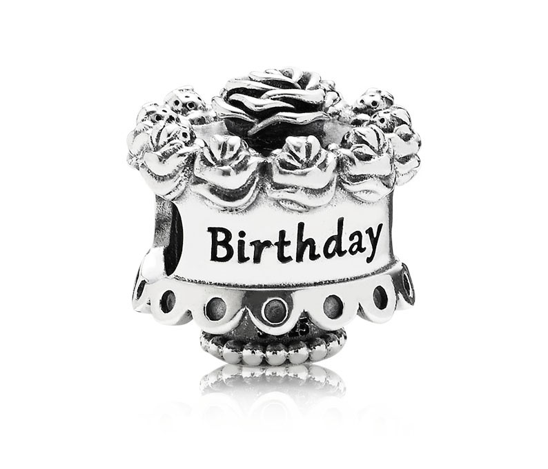 Pandora Bedel zilver 'Happy Birthday' 791289