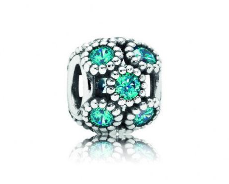 Pandora opengewerkte Bedel zilver 'Turquoise' 791296MCZ