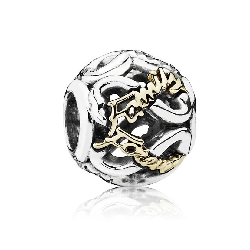 Pandora Bedel zilver-goud 'Family Forever Infinity' 791525CZ