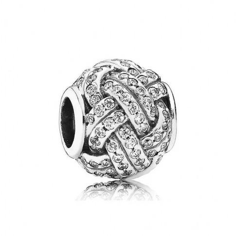 Pandora bedel zilver 'Liefdesknoop' 791537CZ