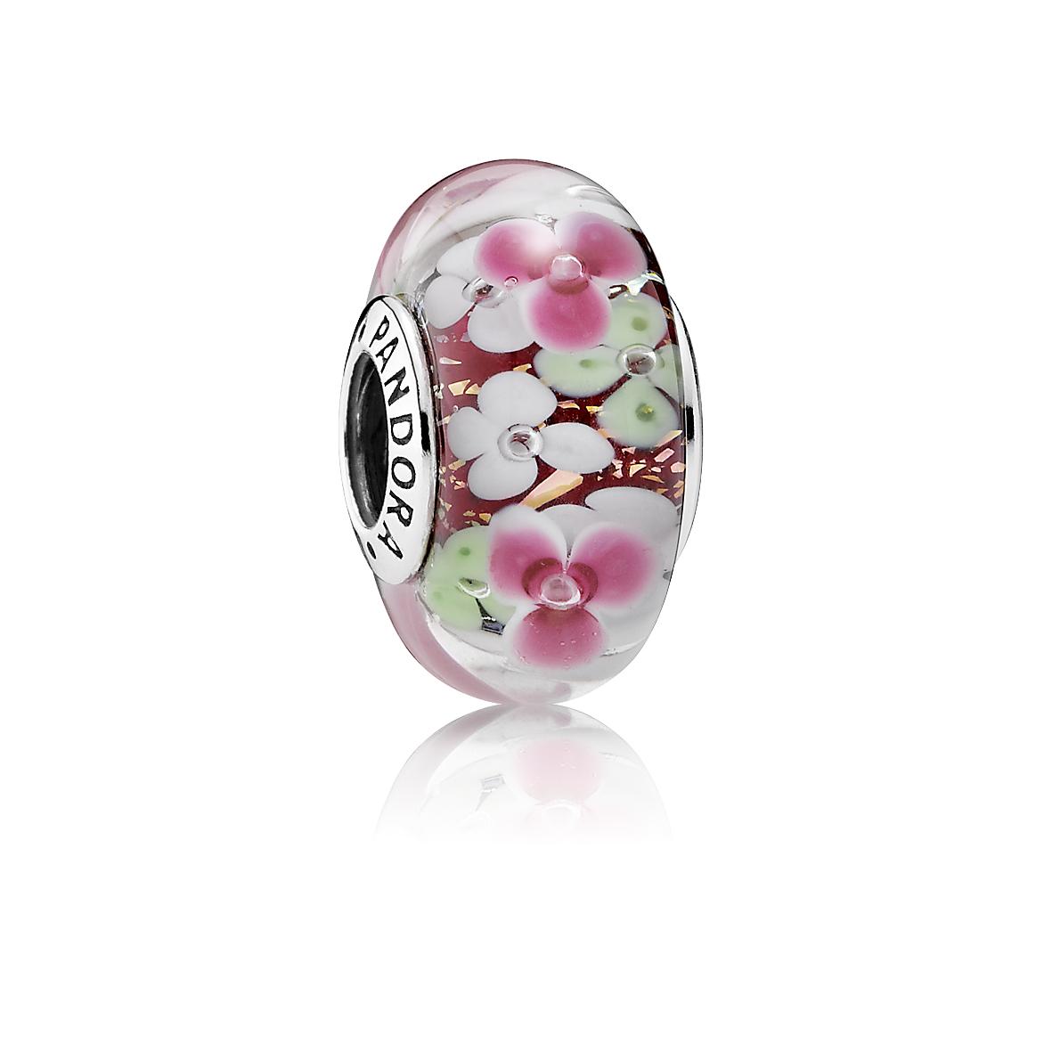 Pandora Bedel Muranoglas Bloementuin 791652