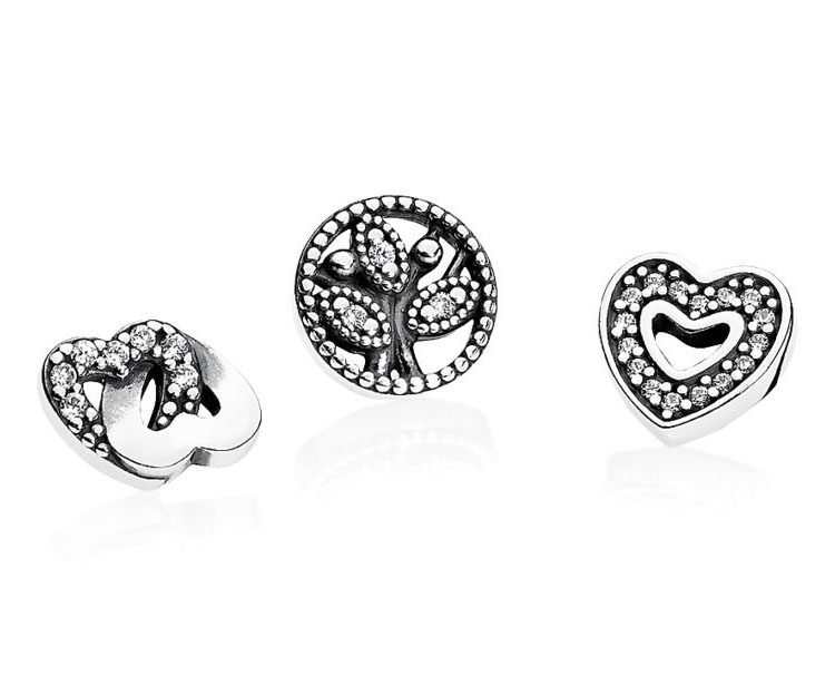 Pandora Elements Zilver 'Heart, Interlocked Hearts, Family Tree' 792022CZ
