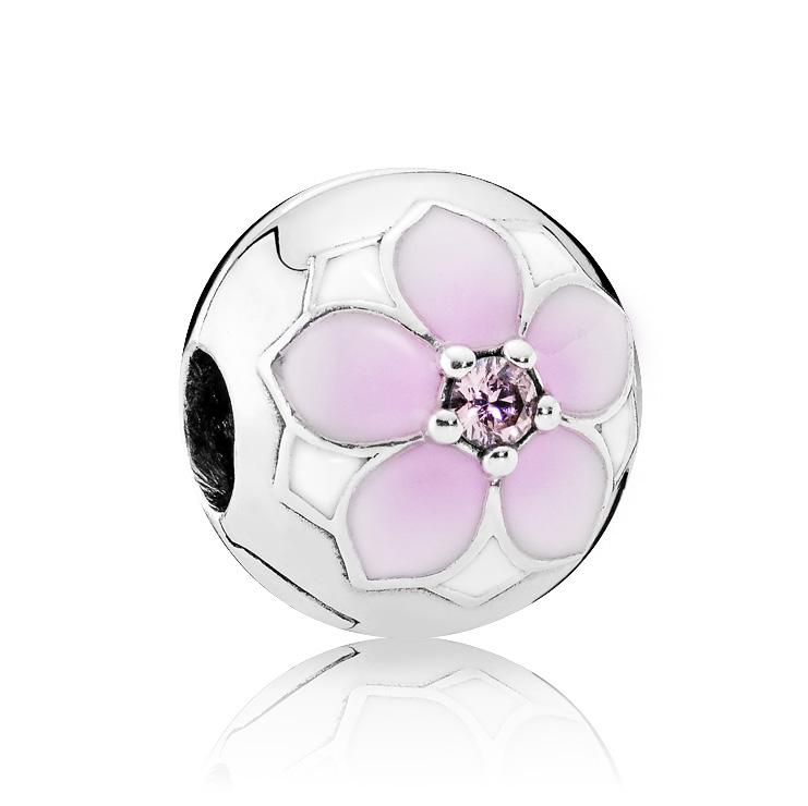 Pandora Clip-stopper Zilver 'Magnolia 792078PCZ