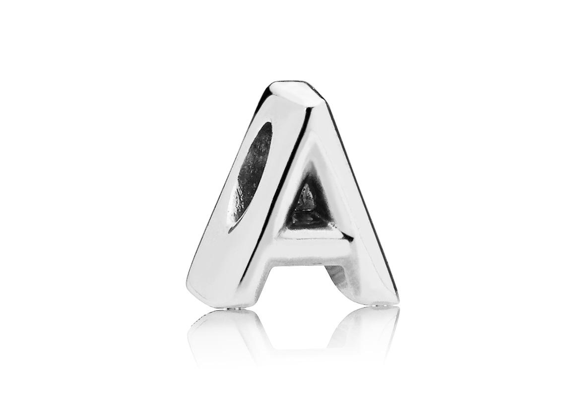 Pandora Bedel zilver Letter A 797455
