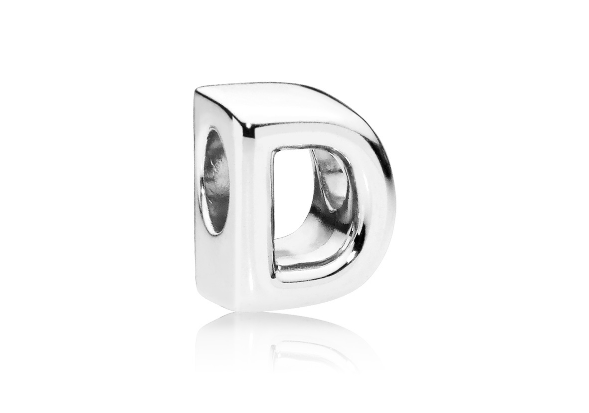 Pandora Bedel zilver Letter D 797458