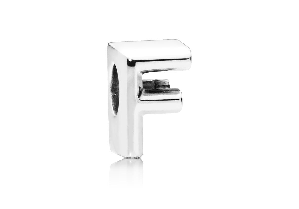 Pandora Bedel zilver Letter F 797460