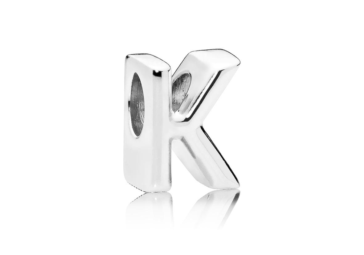Pandora Bedel zilver Letter K 797465