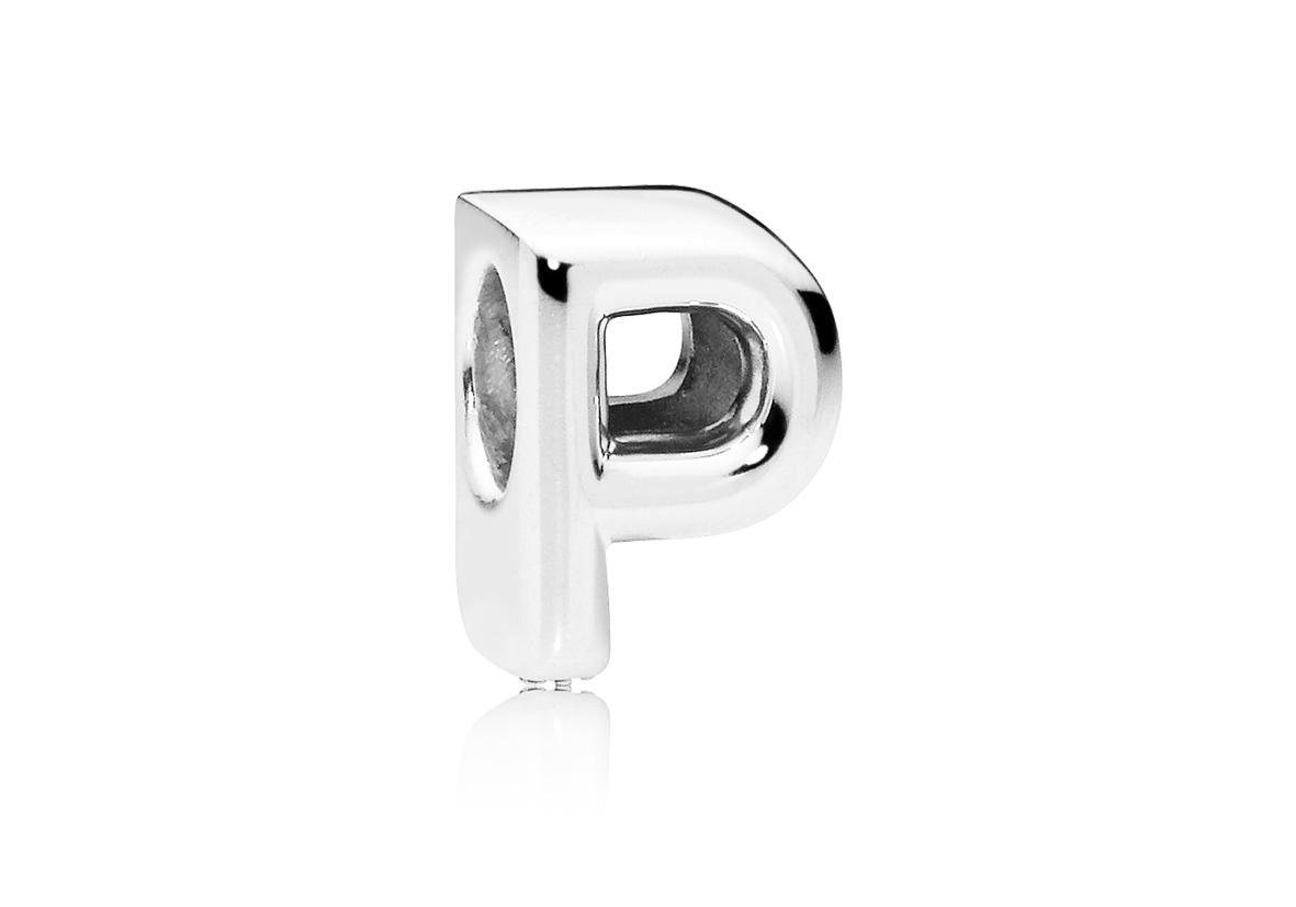 Pandora Bedel zilver Letter P 797470