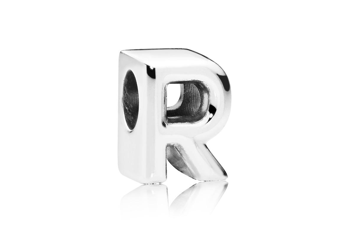 Pandora Bedel zilver Letter R 797472