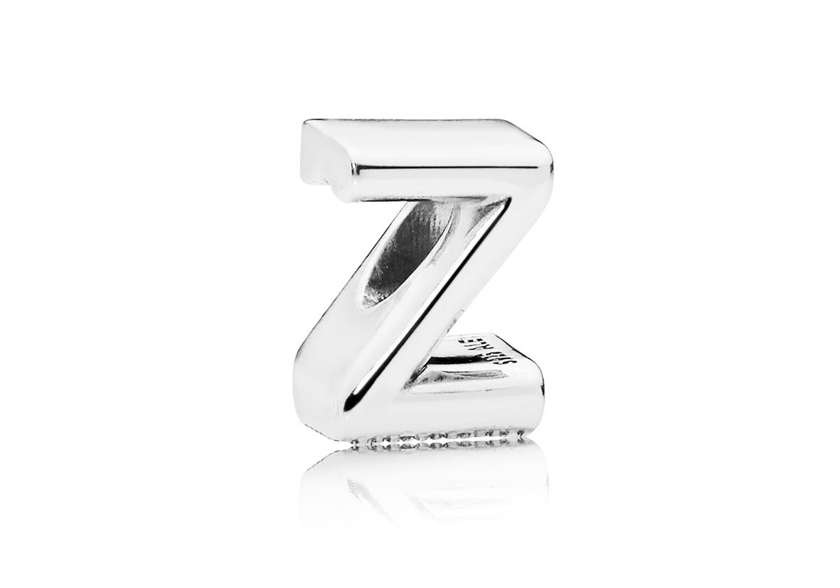 Pandora Bedel zilver Letter Z 797480