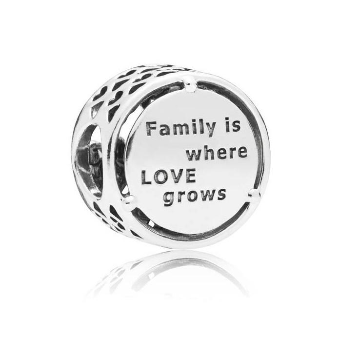 Pandora Bedel zilver Family Roots 797590