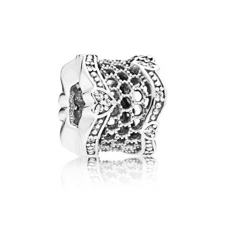 Pandora bedel 797653CZ zilver Lace of Love