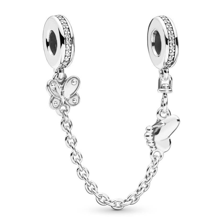 Pandora 797865-05 Veiligheidsketting zilver Decorative Butterflies