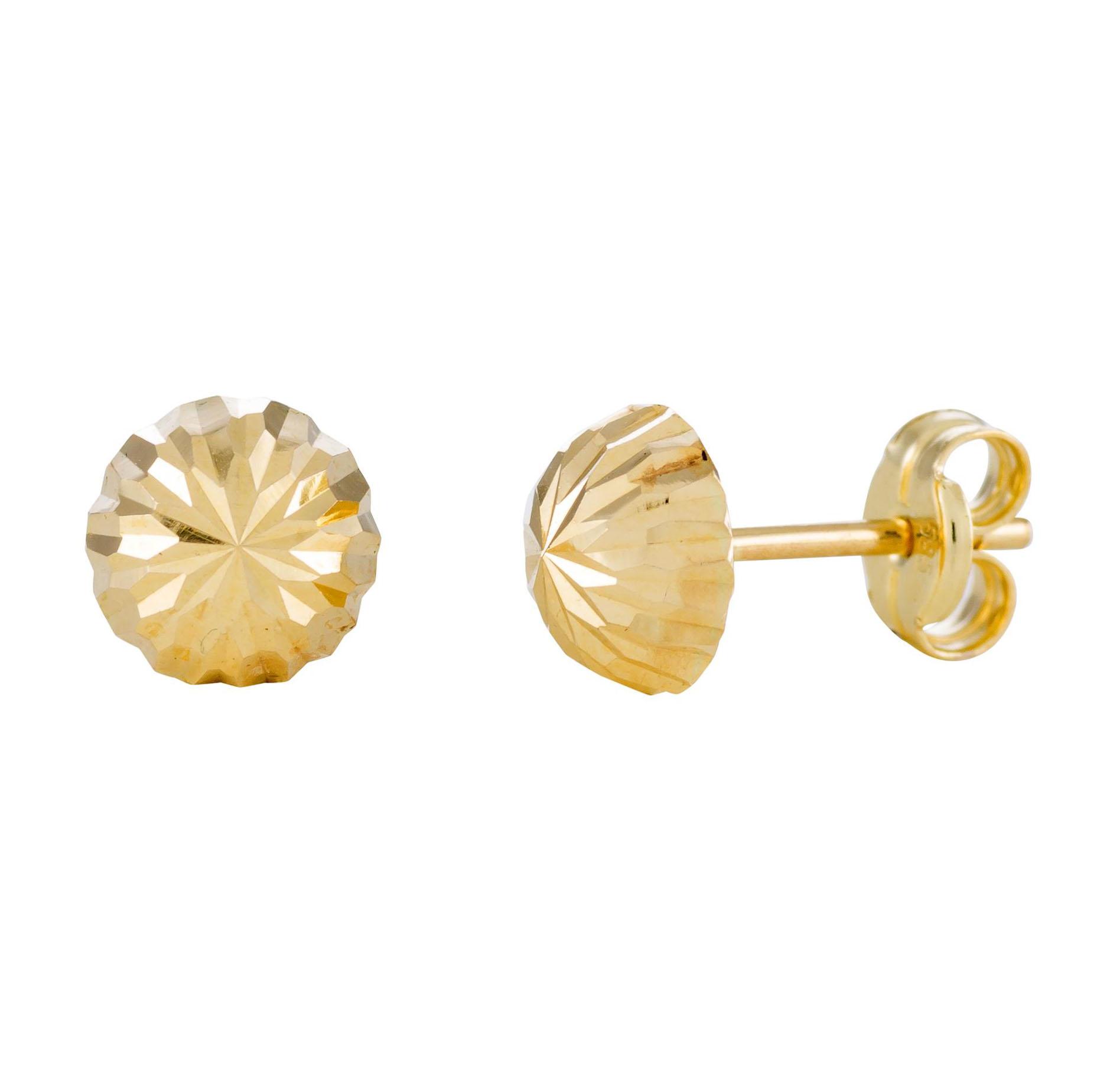 Afbeelding van 14 Krt Gouden Oorbellen 6.0 mm Gediamanteerd 206.0460.06